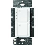 Lutron Maestro 0-Switch 1.5-amp Single Pole White Combination Dimmer / Fan control