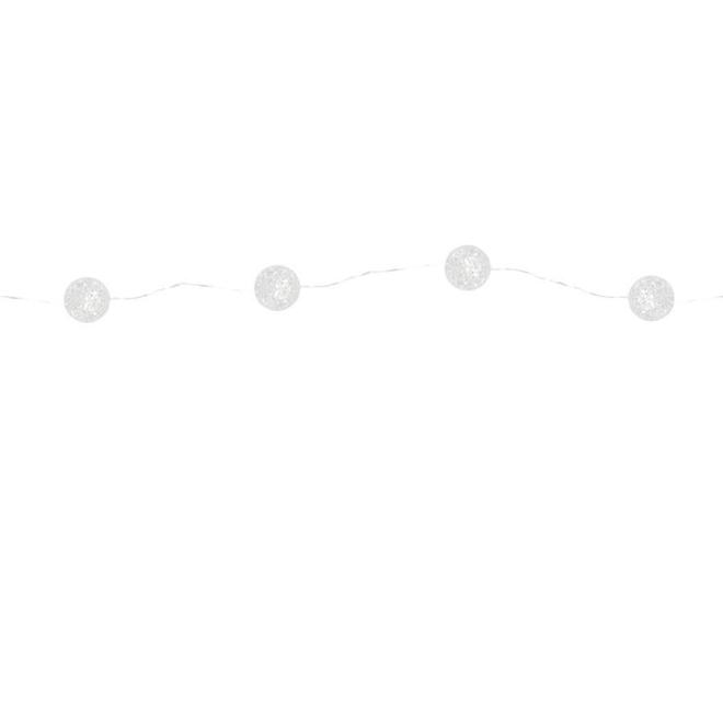 Crackle Ball Christmas Lights - 15 Lights - Warm White