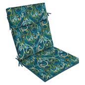 """Coussin pour chaise de patio, 44"""" x 21"""" x 4"""", polyester, bleu"""