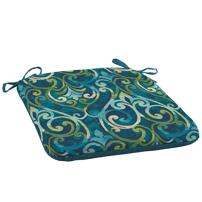 Style Selections Deep Seat Cushion Chair - 18-in x 19-in x 2.5-in - Polyester - Blue