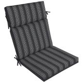 High Back Patio Chair Cushion - Polyester - Black