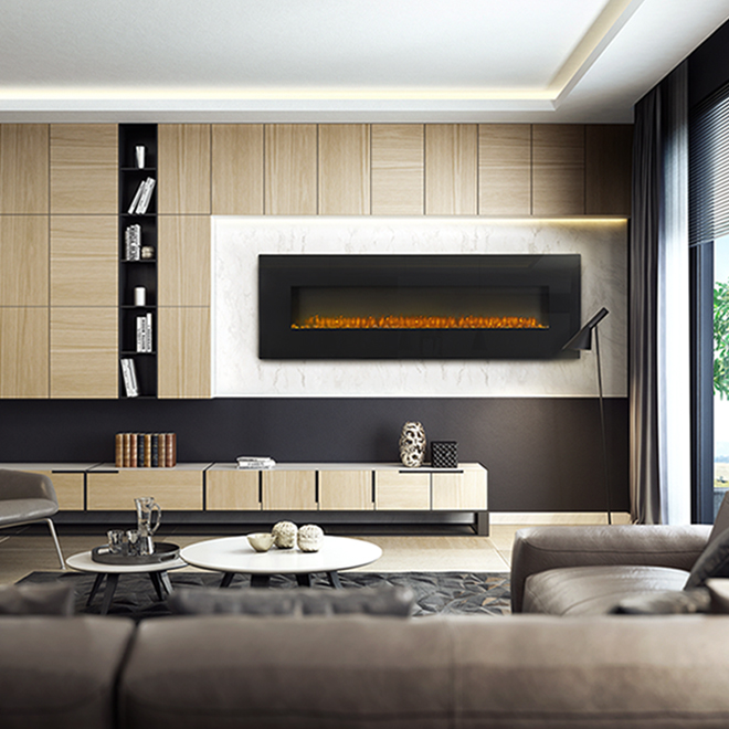 Napoleon Wall Mount Electric Fireplace - 72-in - 1500 W - Black