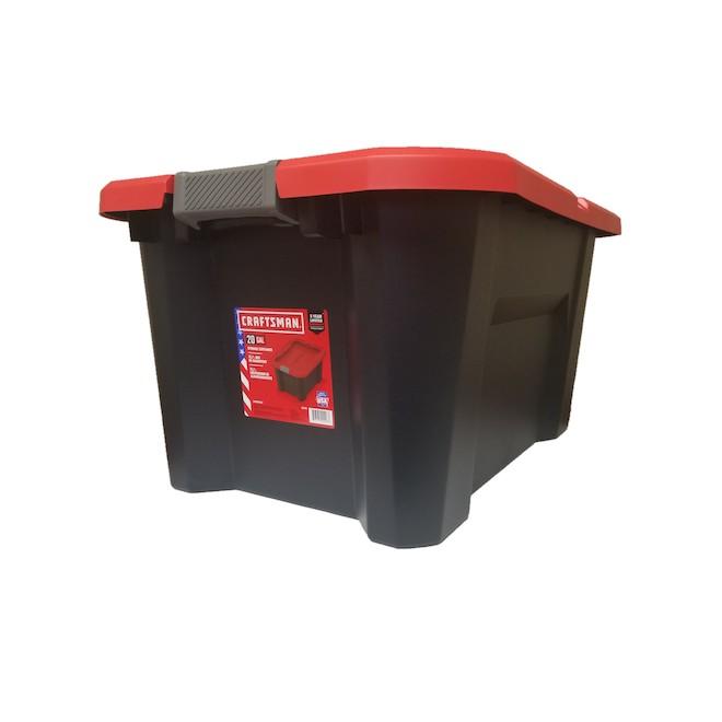Craftsman Plastic 75 L Storage Tote, 20 Gallon Storage Tote