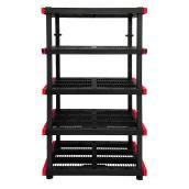 Étagère modulaire de rangement à 5 tablettes Craftsman, plastique, 72 po x 40 po x 24 po, noir