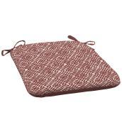 Coussin pour chaise de patio Style Selections, treillis, 18 po x 19 po, polyester, rouge