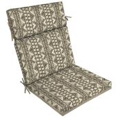 Style Selections Southwest High Back Chair Cushion - 44-in x 21-in - Tan