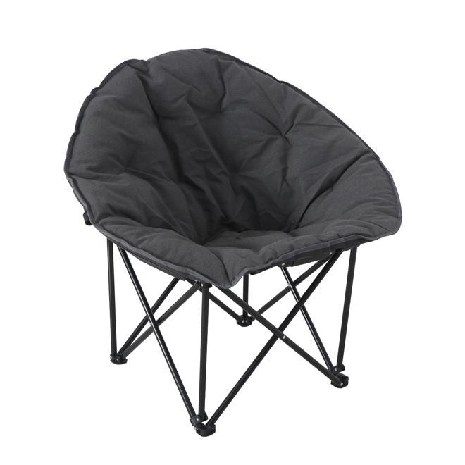 Chaise pliante Moon par Style Selections, métal, 33,9 po x 24,4 po x 32,3 po, gris