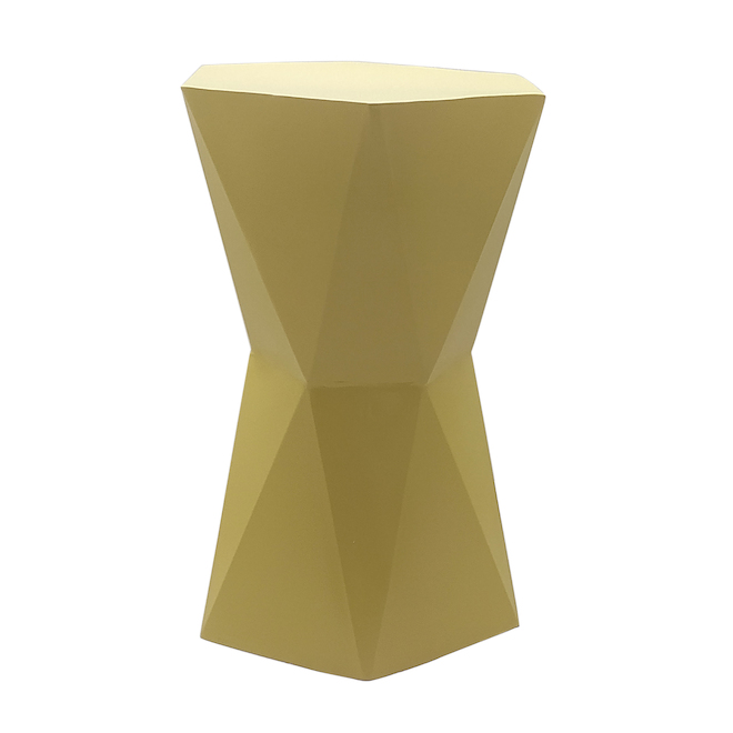 ALLEN + ROTH Indoor Plant Stool - Wrought Iron - Yellow