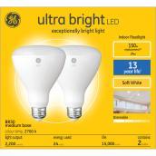 GE Lighting BR30 LED Bulbs - Glass 150W Warm White 2/Pack