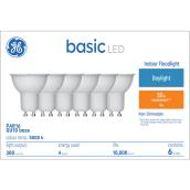 GE LED Non-Dimmable Bulbs - GU10 - 50 W Equivalent - Daylight - 6/Pack
