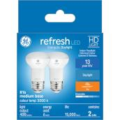 GE Lighting R16 LED Bulbs - Glass 40W Daylight 2/Pack