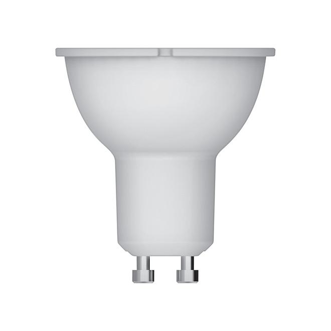 Ampoule DEL GU10 GE, équivalent 50 W, blanc doux, non-réglable, paquet de 6
