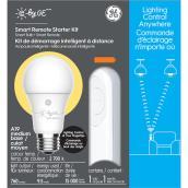 Ampoule et télécommande intelligentes C by GE de GE à intensité réglable, A19, équivalent 60 W, blanc doux