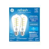 Ampoules DEL GE Refresh(MC) ST19 de 6,2 W, lumière de jour, 2/pqt