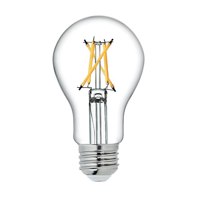 Ampoules transparentes Refresh HD par GE A19 à DEL lumière du jour de 60 W à usage général, paquet de 4