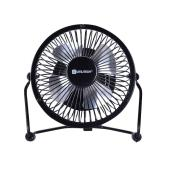 Utilitech USB Fan with Adapter - Metal 4-in 1-Speed Black
