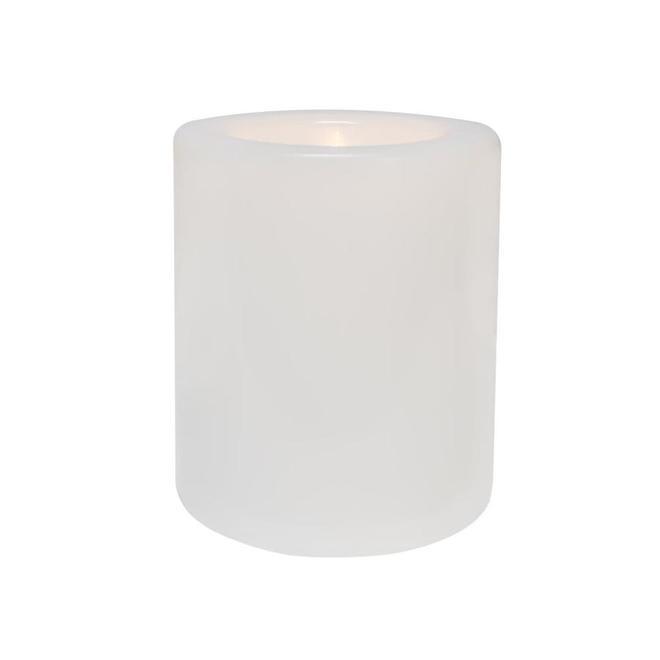 Chandelle sans flamme d'intérieur et extérieur Danson Decor à lumière DEL clignotante, 6,25 po x 7,5 po, blanc