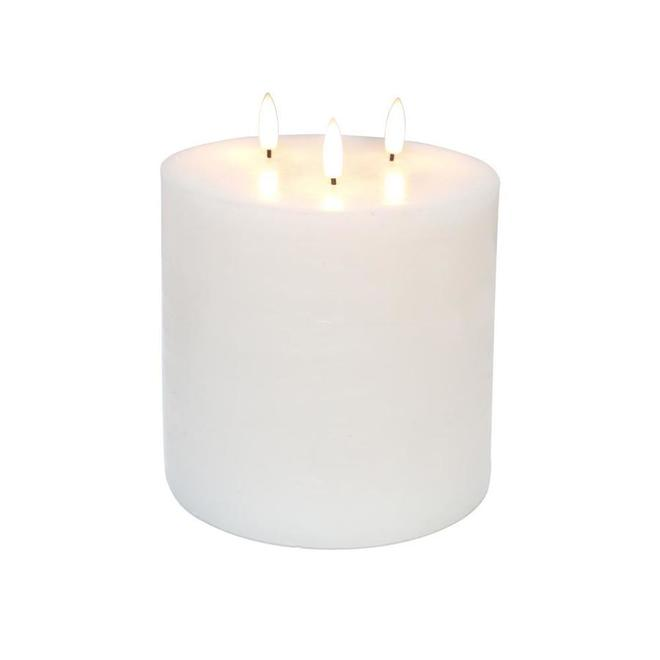 Danson Decor Indoor Outdoor Flameless Candle LED Lights - 6-in x 6-in - White