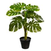 Danson Decor Artificial Philodendron Plant - 24-in - Plastic - Green