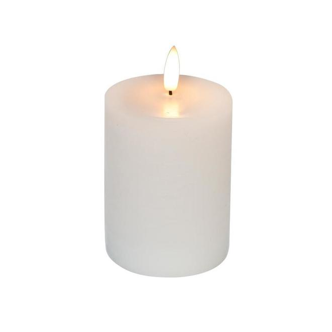 Danson Decor Vanilla Scented Flameless Candle with Flickering LED Light - 3-in x 4-in - White