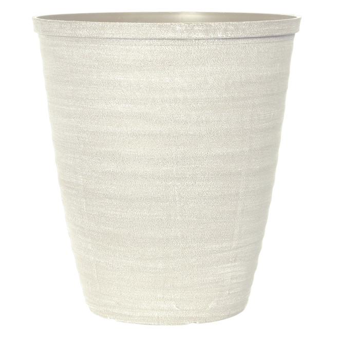 Tall Oval Dune Planter - Plastic - 11-in - Beige and Grey