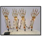 Sylvania  4 Piece Battery Operated Skeleton Arms with Chain 24-in