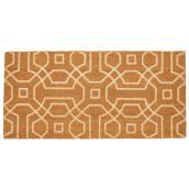 FHE 18-in x 30-in Natural Double Lattice Coir Door Mat