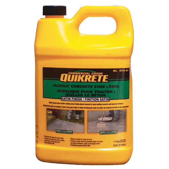 Scellant acrylique pour béton Quickrete, 3.78 l.