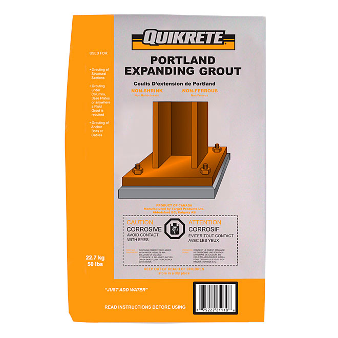 Coulis de ciment expansible Portland, 22,7 kg