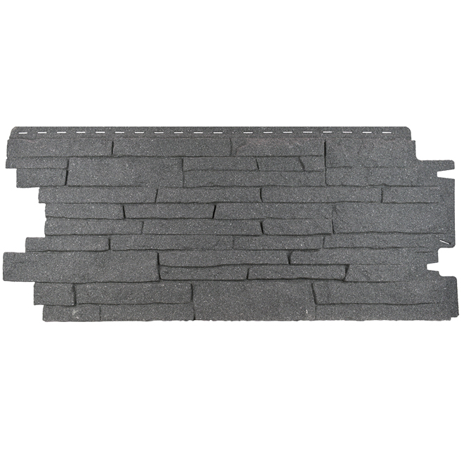 Leadvision Paquet De 12 Panneaux Stack Stone Pvc 18 3 X 39 75