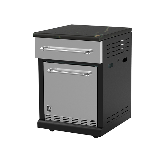 Modular Refrigerator - 71.6 L - Black and Stainless Steel