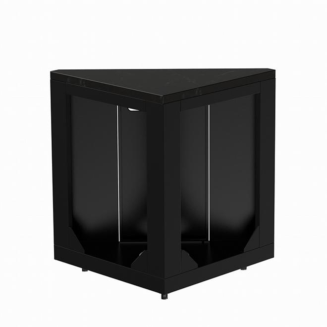 Modular Corner Unit - Steel - Black