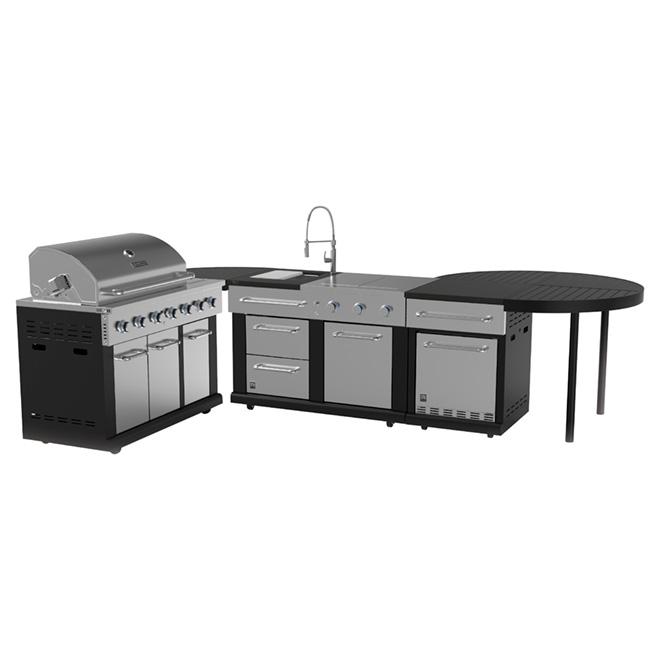 Barbecue modulaire au gaz propane, 825 po²