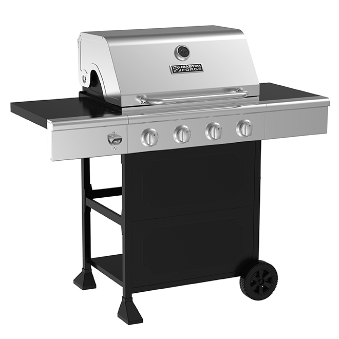 Master Forge Bbq Grill.Propane Gas Bbq 44 000 Btu 610 Sq In Silver And Black