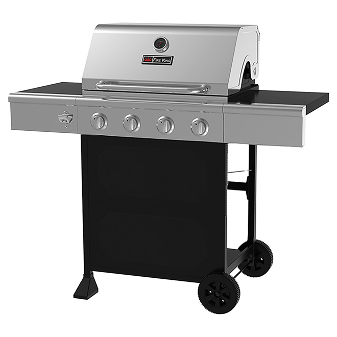 Propane Gas BBQ - 44,000 BTU - 610 sq. in. - Silver and Black