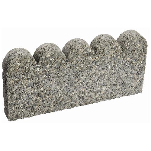 Scalloped Concrete Landscaping Edger
