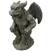"Gardeb Statue - Crouching Gargoyle - 19"" - Grey and Green"