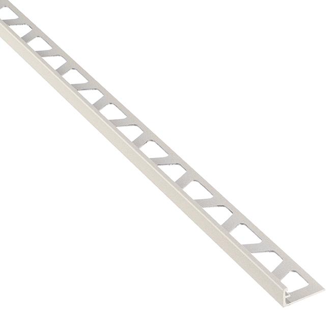 """Moulure en aluminium pour tuiles, 8' 2,5"""" x 3/8"""", grège"""