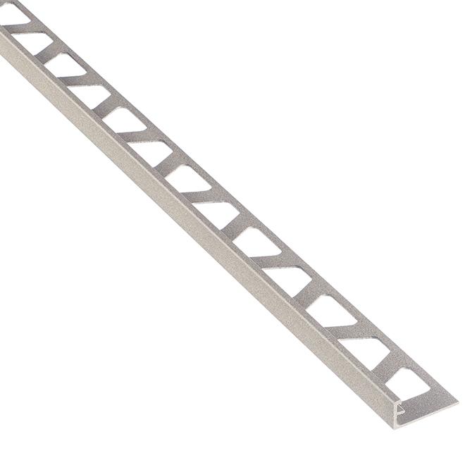 """Moulure en aluminium pour tuiles, 8' 2,5"""" x 3/8"""", gris pierre"""