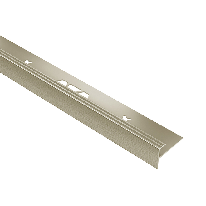 Moulure de tuile Schluter Systems VINPRO Escalier, 0,156 po, nickel brossé