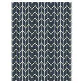 Tapis d'intérieur ou d'extérieur Chevron, 8' X 10', bleu