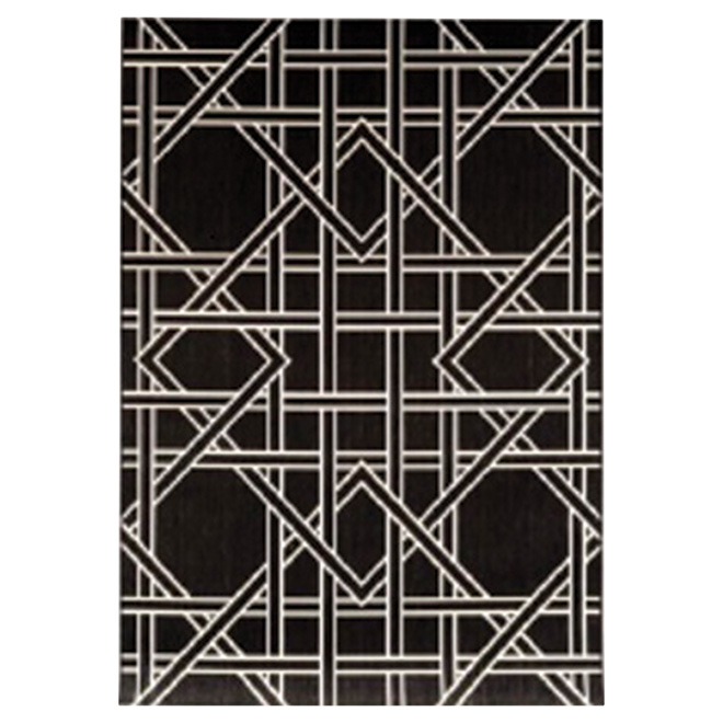 Allen + Roth Outdoor Rug - Geometric Model - 8' X 10' - Black 31487690-8X10