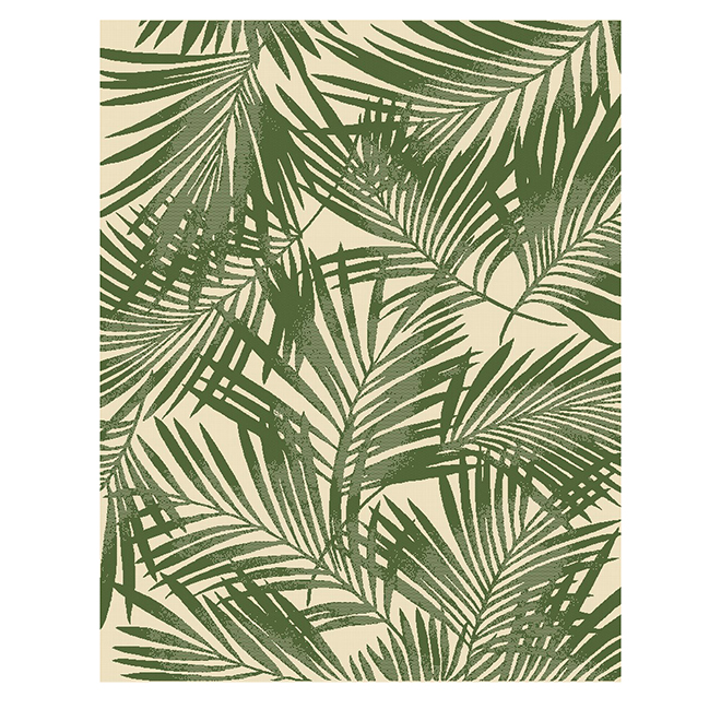 Allen + Roth ALLEN + ROTH Outdoor Rug - 8' x 10' - Green and White 31228146-8X10