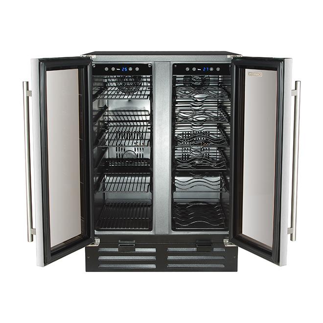 Wine Cooler with 2 Temperature Zones - 36 Bottles