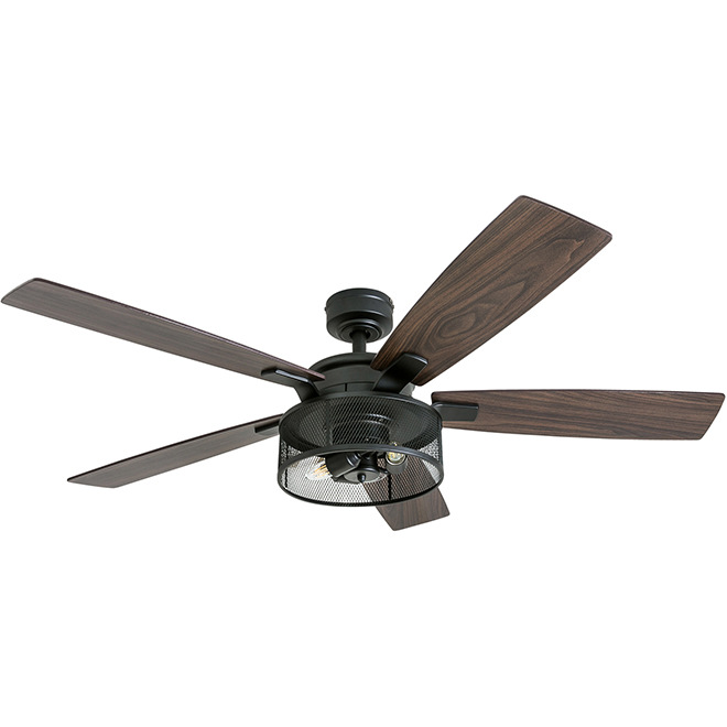 "Ceiling Fan - 5 Blades - 52"" - Steel - Bronze"