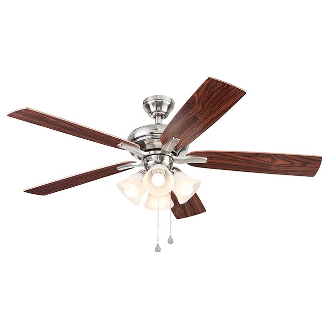 Ventilateur de plafond Port Severn de Harbor Breeze, 5 pales réversibles, espresso et moisson, 52 po dia.