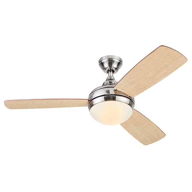 Harbor Breeze Ceiling Fan - 44-in - 3 Blades - 1 LED Light