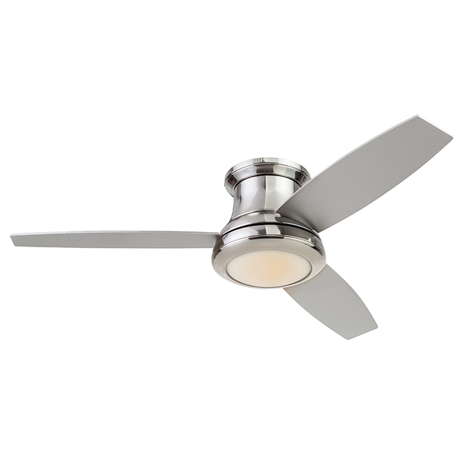 Harbor Breeze Sail Stream Ceiling Fan - 52-in - 3 Silver Blades - 1 LED Light - Brushed Nickel