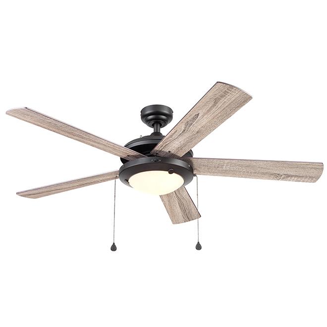 Ceiling Fan Harbor Breeze - 52-in - 5 Blades - 1 LED Light