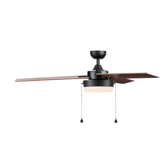 Ventilateur de plafond Harbor Breeze, 5 pales réversibles, brun et chêne, 52 po de diamètre
